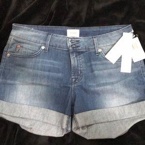 HUDSON Women's Croxley Mid Thigh Jean Shorts
